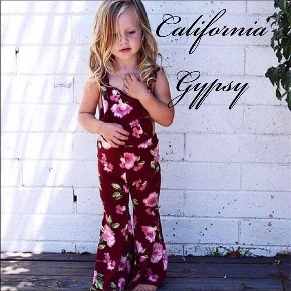31d46f07595 Baby hippie boho floral overalls jumpsuit✨
